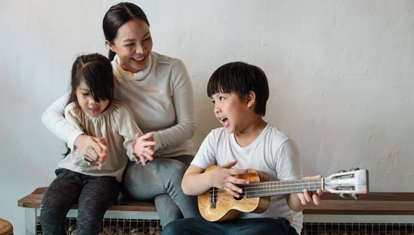 Encourage the kids to play an instrument.
